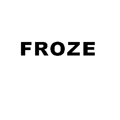 froze logo black